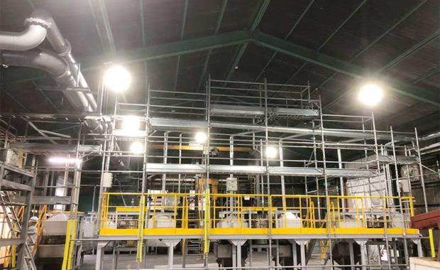 工場内界壁用足場
