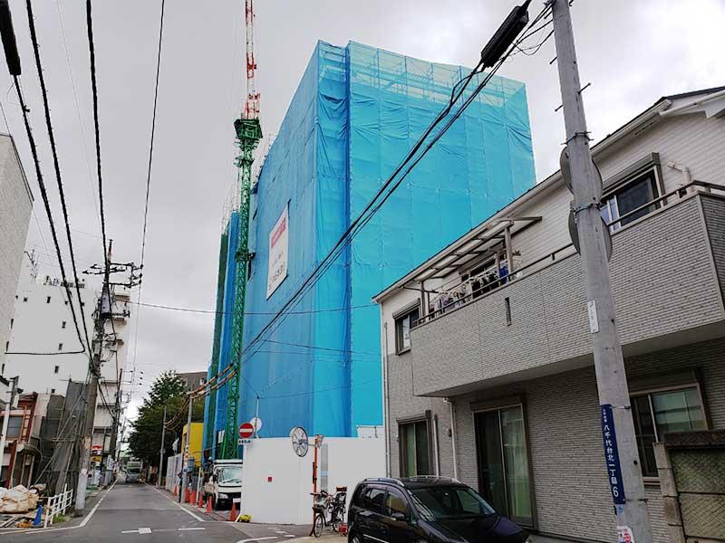 八千代台9階建てマンション新築工事01